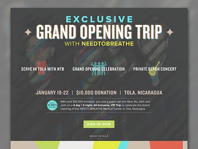 NEEDTOBREATHE VIP Trip exclusive guitar concert band hands vip trip nicaragua needtobreathe web