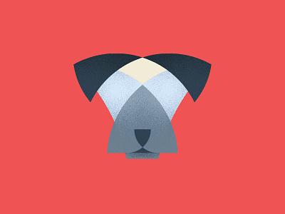 Sup Dog shading pup logo head geometric ears dog