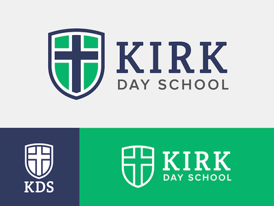 Kirk Day School shield school logo cross crest