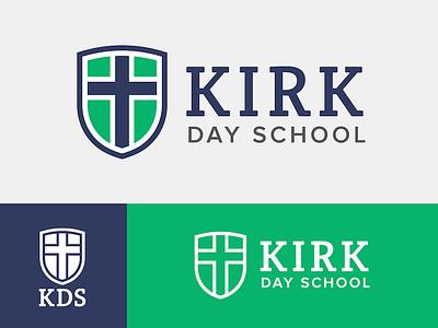 Kirk Day School shield school logo cross crest