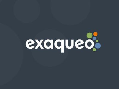 exaqueo branding logos bubbles circles