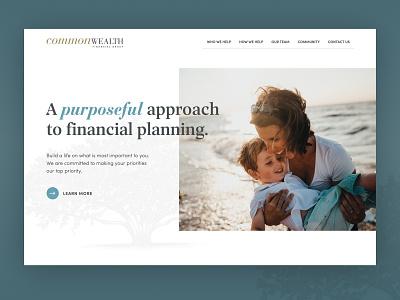 Commonwealth Financial Group website website hero figma webflow design web
