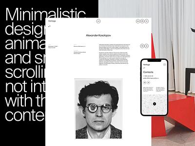 Heritage portfolio agency design branding web ui ux
