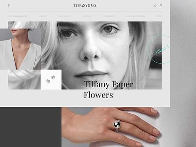 TIFFANY & CO concept web jewellery brand ux ui