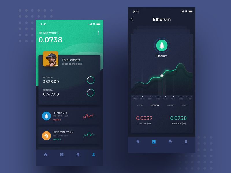 Block chain design icon ux ui app