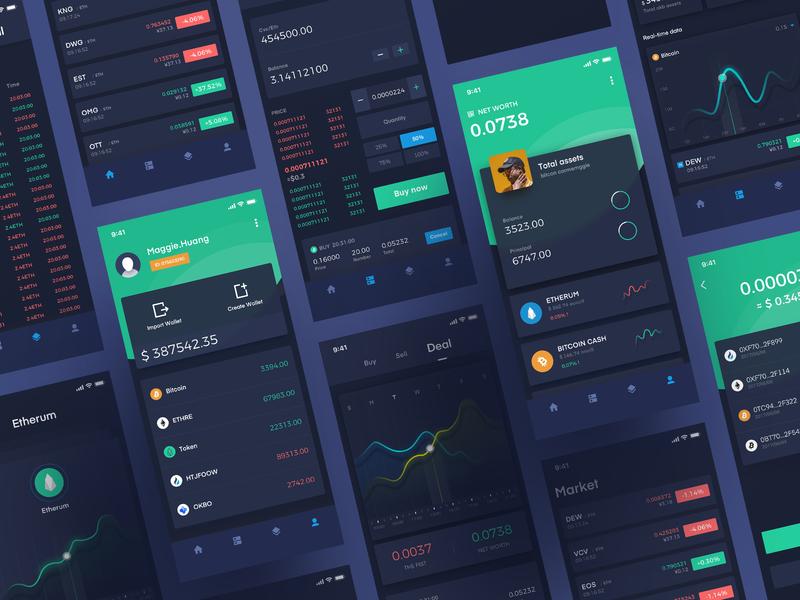 Block chain interface、app design icon ux ui app