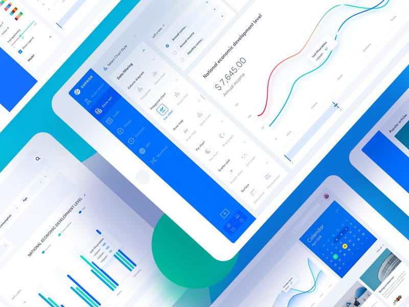 Data System, Data Background interface、app website design icon ux ui