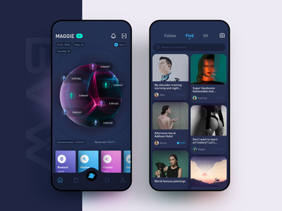 blockchain interface、app app design ux icon ui