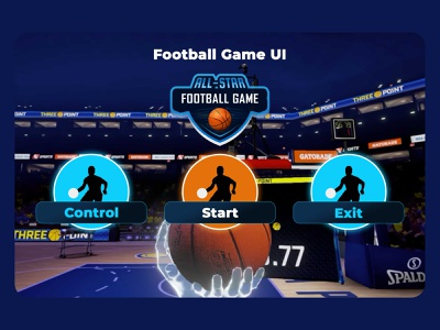 Football Game UI creativeui flatui gamedesign illustrator photoshop