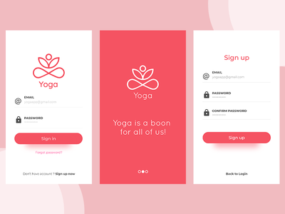Yoga App flatui redesign yoga app ui illustrator photoshop