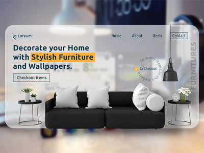 Furniture Webpage banner homepage website design design creativeui graphics ui illustrator photoshop