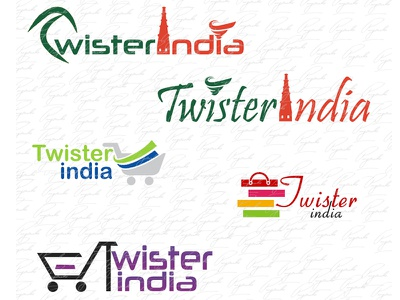 TwisterIndia Logo illustrator photoshop