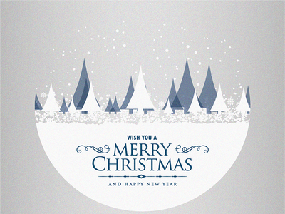 Merry Christmas illustrator photoshop