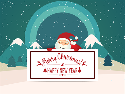 Merry Christmas. illustrator and photoshop