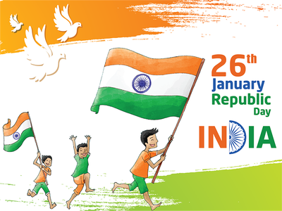 Happy Republic Day 2018 graphics republic day vector