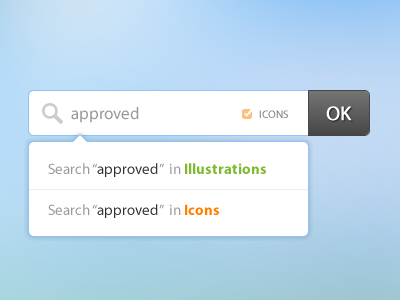 Searchbox with categories option