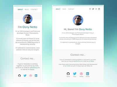 Portfolio redesign - mobile and tablet size white mobile web simple responsive redesign minimalistic clean ui portfolio
