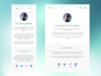 Portfolio redesign - mobile and tablet size