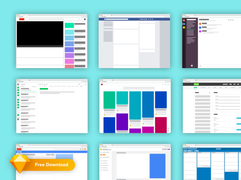 Download Freebie! Popular Web App Layouts