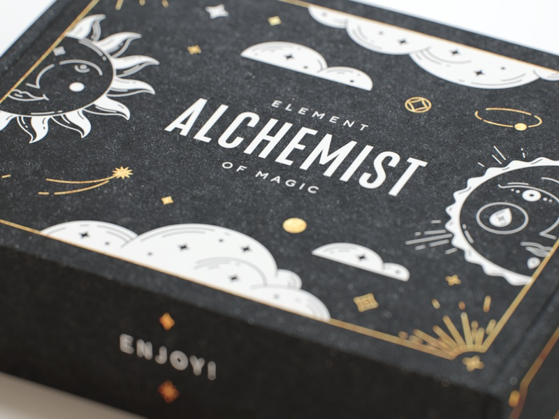 Alchemist packaging jewelry logo illustration tattoo packaging