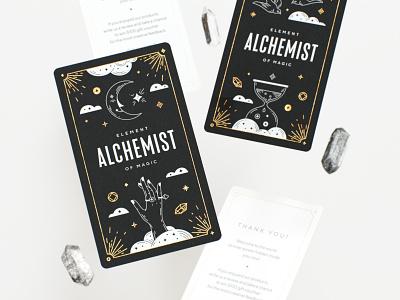 Alchemist cards jewelry mystical tarot card tarot logo tattoo illustration packaging