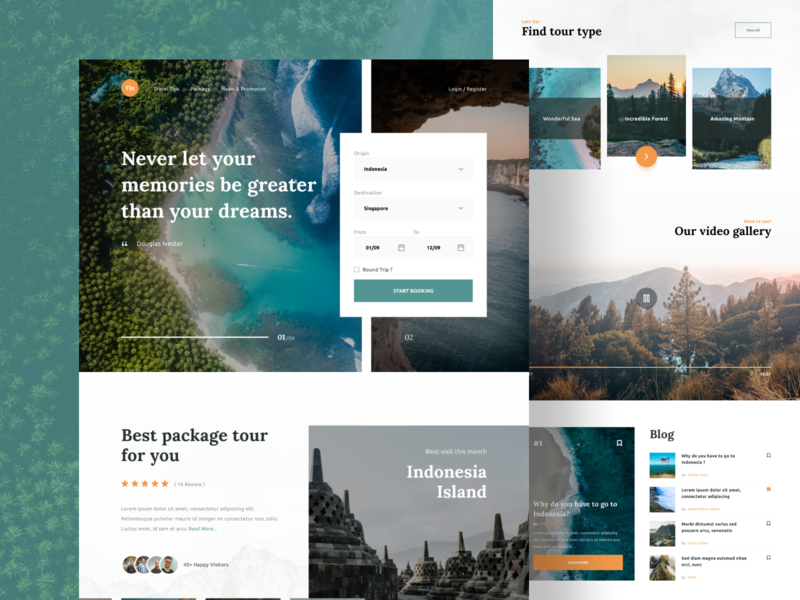 Travel Booking - Landing Page web design webdesign web ui travel website travel design booking travel booking travel landing page ui landing page concept landing page design landing pages landing landingpage website design landing design landing page