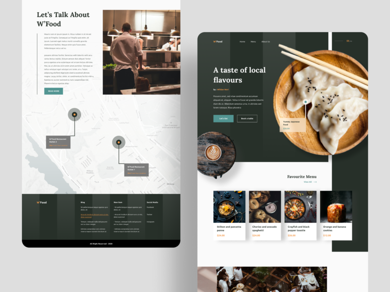Restaurant - Landing Page landing page design dark web blank web food and drink food delivery webdesign websites food website food web restaurant app restaurant logo food restaurants restaurant branding website homepage landing design landing pages landing page restaurant