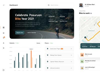 Pancalan - Cycling Dashboard 🚴🏻♀️ analytics dashboard bikes bike graphics maps map dashboard design cycle cycling chart analytics chart analytic dashboard ui dashboard