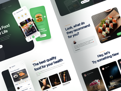 🍔 Food App - Landing Page delivery app delivery web design webdesign hero website landing pages landing page landing landingpage food illustration food and drink food app food