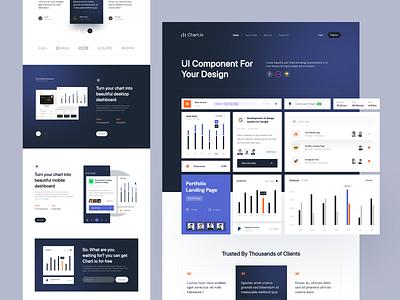 Chart.io - Landing Page sass saas dashboard web design web hero designhero chart homepage landing page