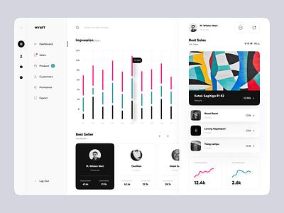 MYNFT - Sales Dashboard seller web website web design graph chart sales dashboard nft