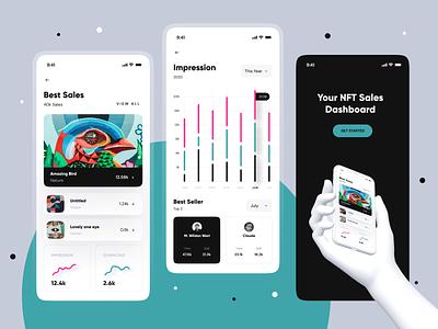 Sales Dashboard - Mobile mobile app splash screen splash chart graph dashboard sales mobile nft crypto