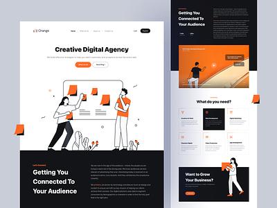Orange - Creative Digital Agency 🍊 agency digital marketing homepage web design web website landing landing page