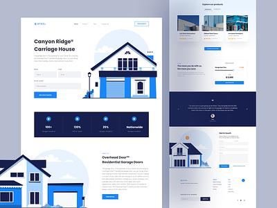 Steel - Garage Door 🏡 landing page homepage web design web website sales profile company sale garage door