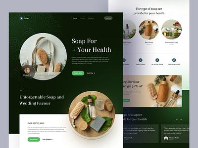 Soap - Landing Page 🧼 clean modern elegant profile company soap web design homepage landing landing page website web