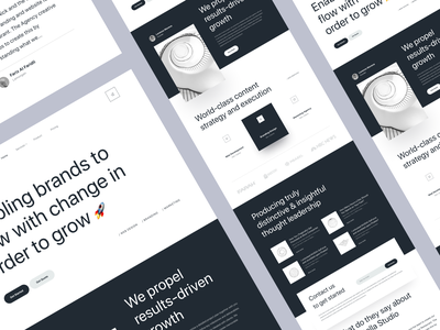 Stella - Creative Agency Landing Page white black agency creative homepage web web design website landing page