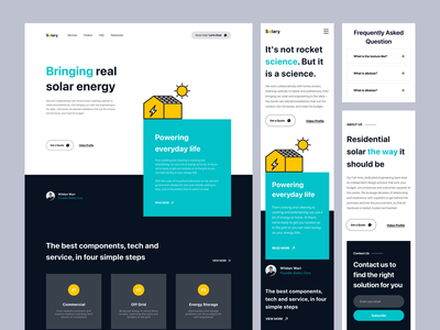 Solary - Responsive Landing Page mobile view responsive homepate web design website web landing page panel solar