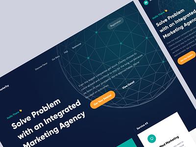 MarkeTzy - Marketing Agency Hero homepage web design website web landing page hero agency creative marketing market