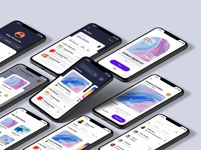 NFTzy - NFT Marketplace UI Kit ui kit crypto marketplace nft mobile ui app mobile mobile app