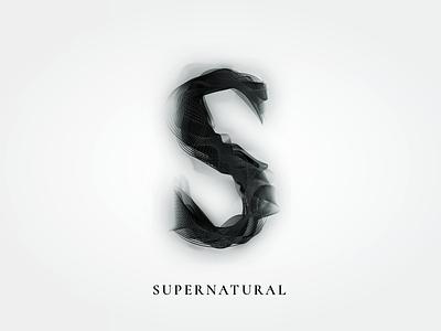 TV Series Alphabet: Supernatural illustration typography alphabet tv series graphic design minimal smoke black supernatural horror