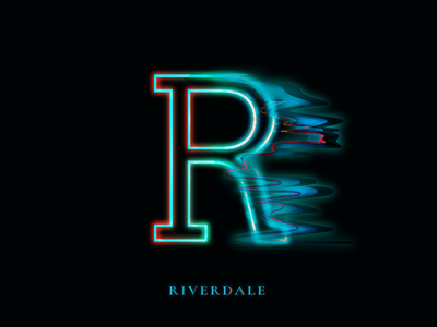 TV Series Alphabet: Riverdale mystery drama crime riverdale minimal design graphic series tv alphabet typography illustration