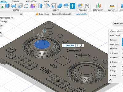 T007 DJ Controller render cinema 4d hardware music streaming ui music player vst interface audio