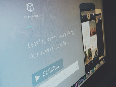 FlowHome Landing  flowhome app android landing website signup google play launcher icons html css