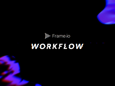 Workflow Ident workflow after effects frame.io neon ident logo animation