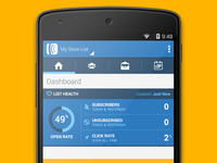AWeber Android App -  Dashboard