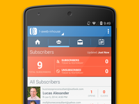 AWeber Android App - Subscribers