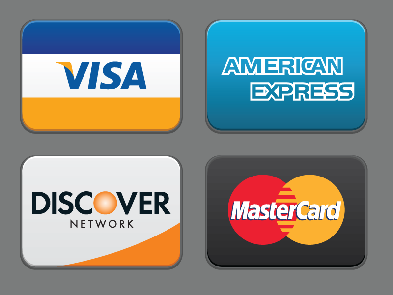 Credit Cards (SVG) visa master card discover card american express amex credit cards icons