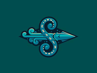 Seattle Kraken все побежали и я побежал kraken hockey nhl animal sports logo seattle logo just for fun branding