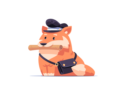 You've Got Mail letter postman post foxy cute animal character fox