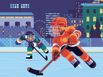 Control the Puck − Oxford MathsBeat hockey stick street night landscape city character sports hockey